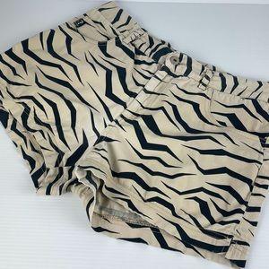 GUESS Animal Print Pocket Shorts - Size 12